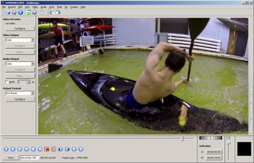 Avidemux программа редактирования видео GoPro Hero mp4 m2ts без потерь без пережатия