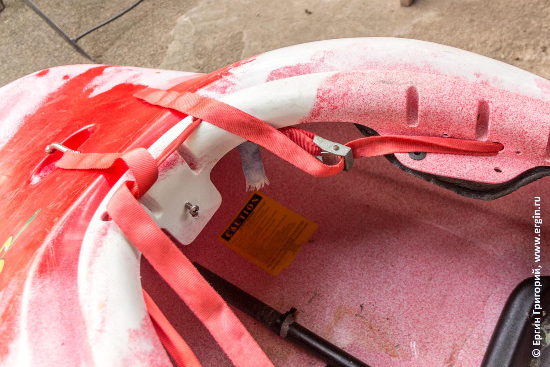 Как регулируется и крепится стропа к Jackson kayak  заменяющая веревочки