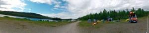 Швеция, Pite älv, Trollforsarna - панорама берега реки