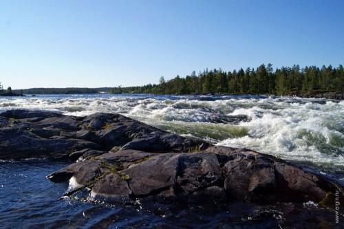 Pite älv, Piteälven - порог на реке до фристайл родео вала