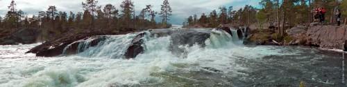 Pite älv, Piteälven, Trollforsarna, Trollforsen, панорама водопадика