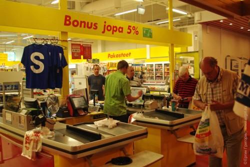 Bonus Jopa - скидки в финском супермаркете