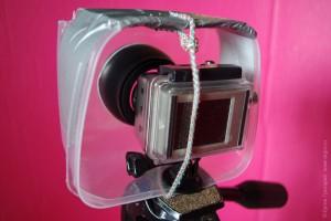 GoPro и телеконвертер в сборе в боксе-контейнере