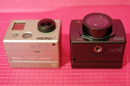 AEE Blackeye XTR 2 и GoPro Hero 2 вид общий