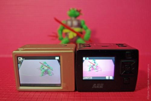 Сравнительный тест экранов GoPro Hero 2 и AEE XTR 2