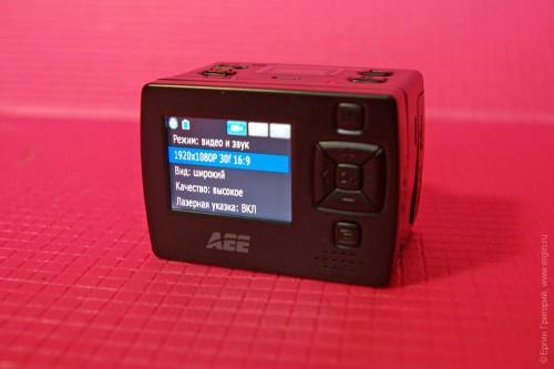 Меню джойстик курсор у экрана AEE XTR 2