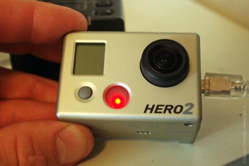 GoPro Hero 2 индикатор зарядки