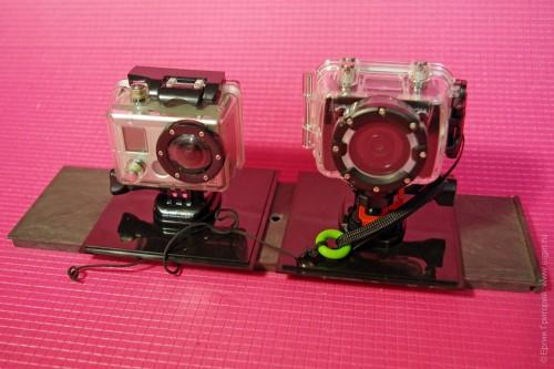 Стенд для совместного тестирования экшнкамер AEE и GoPro