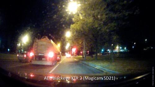 AEE Blackeye XTR 2 (AEE Magicam SD21) ночной кадр в режиме видеорегистратора