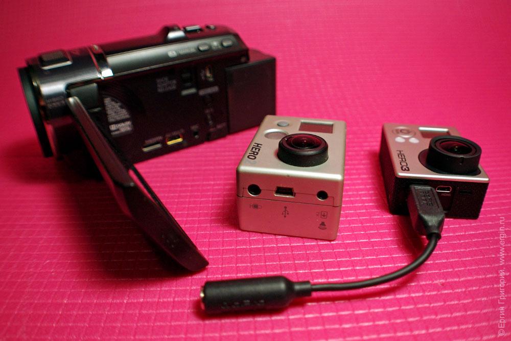 Экшн-камеры, внешние микрофоны, защита видеокамеры от дождя.