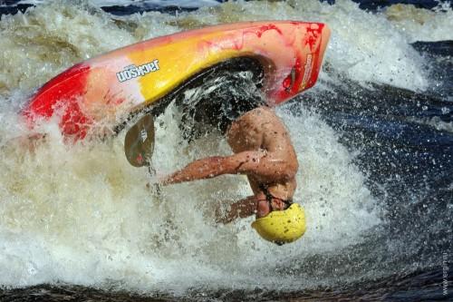 Луп родео-каякинг Ергин Григорий loop freestyle kayak