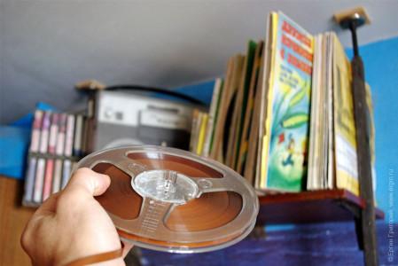 Бобины, катушки с пленкой, магнитной лентой, кассеты, винил