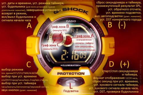 Часы watch Casio GLS-8900 3422 STW1 TMR SIG SNZ графическая зона инструкция руководство
