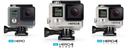 Все экшн-камеры линейки GoPro Hero 4
