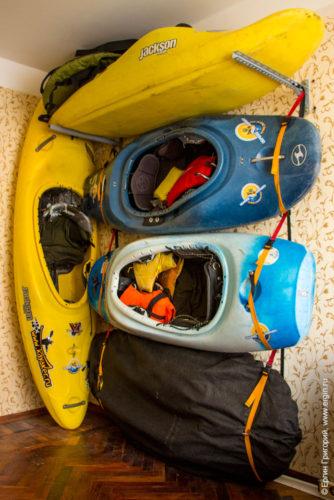 Уголок каякера в квартире как хранить лодки