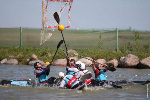 Атака на ворота кануполо весла каяки