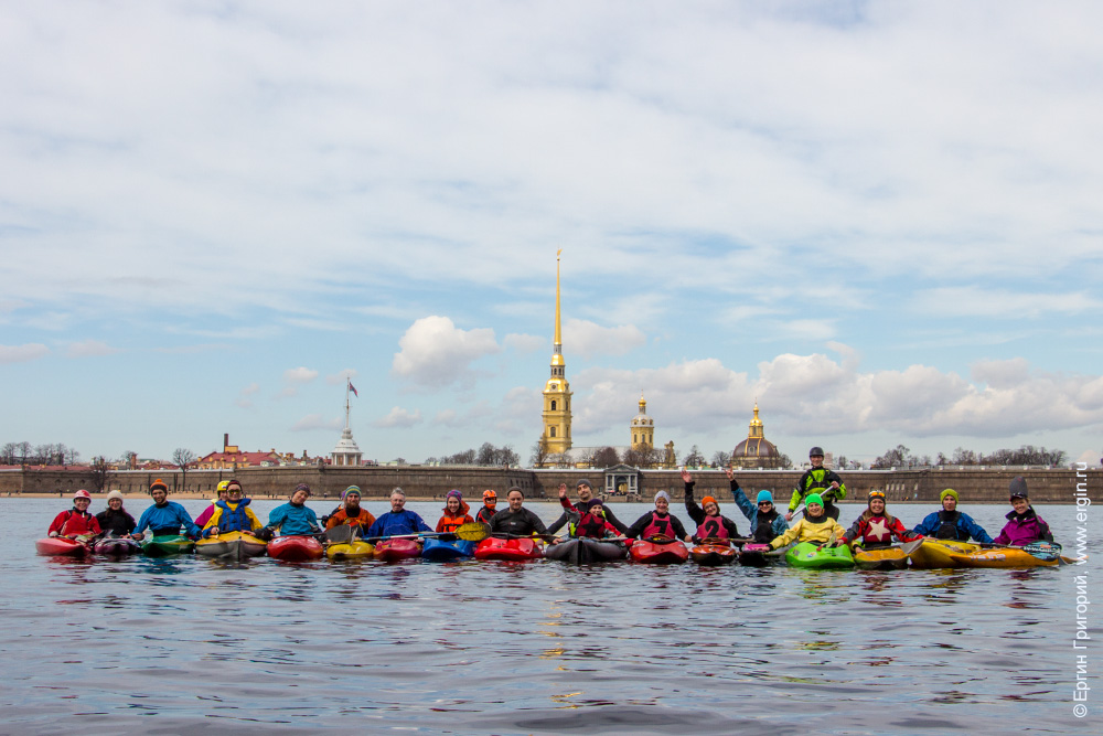 Каякеры Санкт-Петербурга на Неве