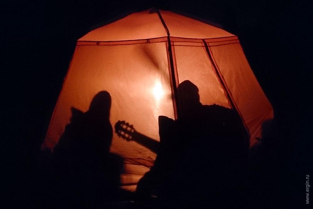 Гитара в шатре тень