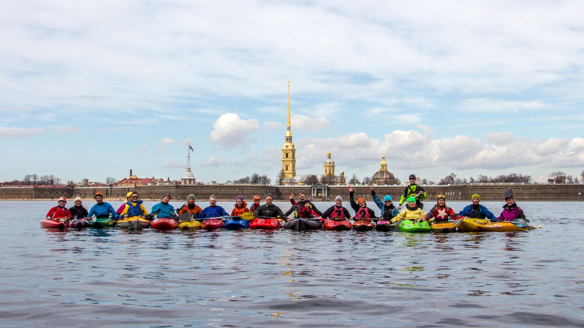 Каякинг в Санкт-Петербурге Питере СПб Каякеры на Неве