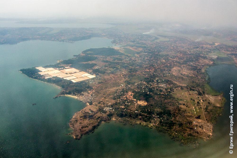 Вид с самолета на Уганду, Энтеббе