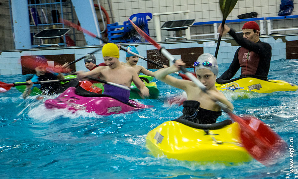 Экшн детский каякинг в бассейне
