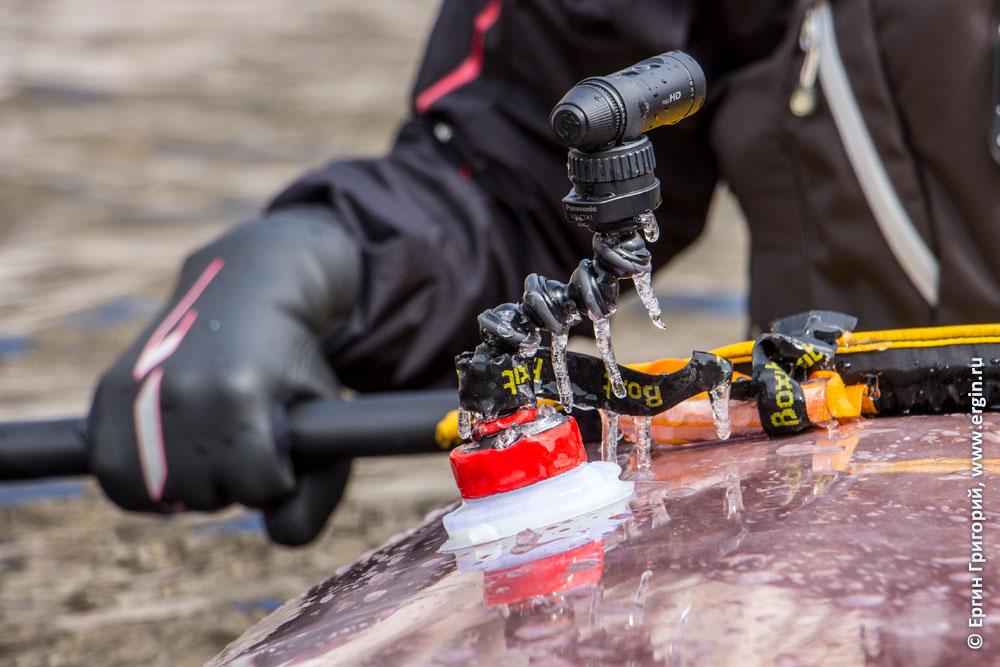 Обморожение экшн-камеры сосульки