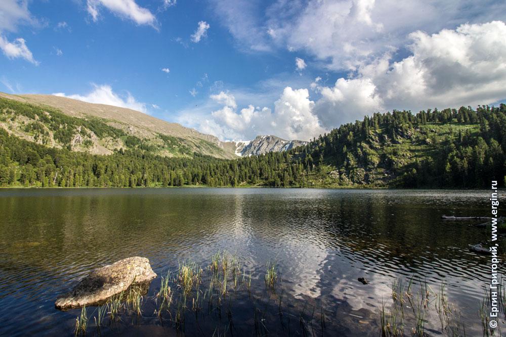 Каракольские озера с видом на горы с ледниками