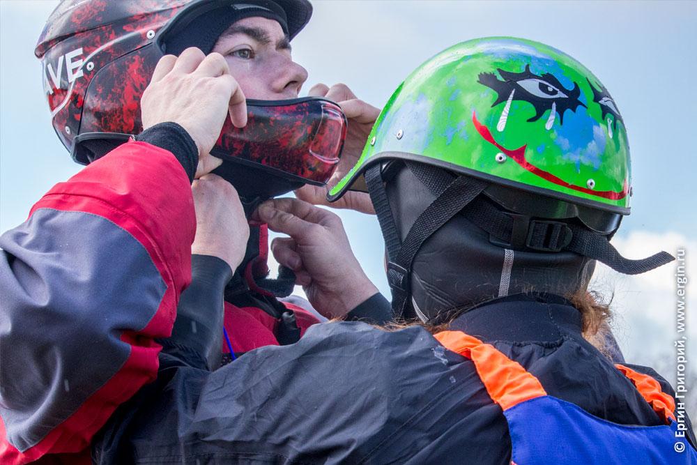 Каякеры в касках шлемах от My Wave composite