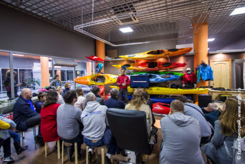 Прошел семинар по эскимосскому перевороту на каяке