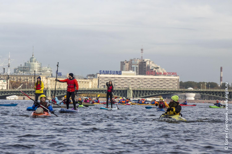 Каякинг и САП на Неве в Санкт-Петербурге