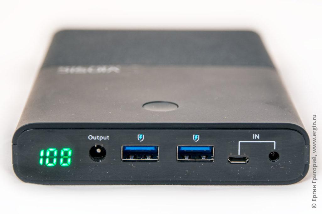 Внешний аккумулятор пауэрбанк для ноутбука Vinsic 30000 мАч