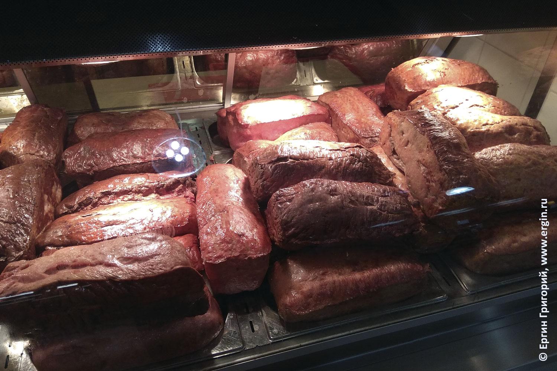 Мясной хлеб в Германии Бавария Платтлинг вареная колбаса в форме буханки хлеба