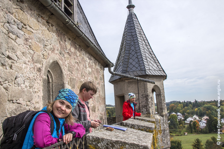 На верхушке замка Эгг в Платтлинге Германия