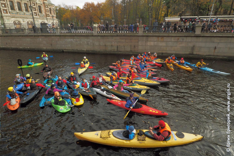 Каякинг водный туризм байдарки SUP в центре Санкт-Петербурга Питера СПб