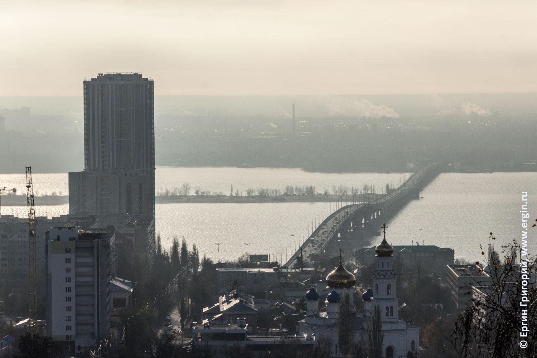 Саратовский мост через Волгу небоскреб VogaSky ЖК Елена