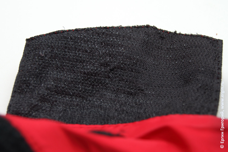 Лысая застежка липучка на рукаве сухой куртки для каякинга