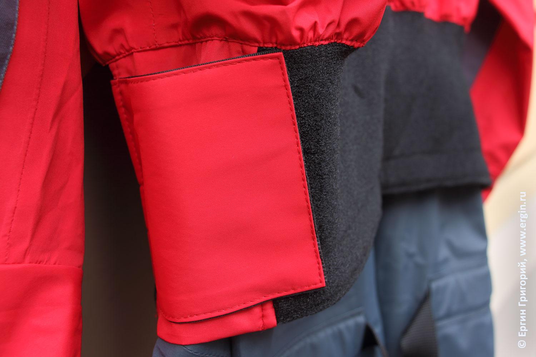 Непромокаемая сухая одежда каякера байдарочника сухой костюм как пристегивается фиксируется юбка