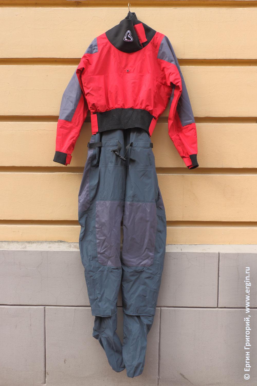 Драйсьют сухой костюм для каякера из России бренд Вода Акваниндзя NinjaRocket