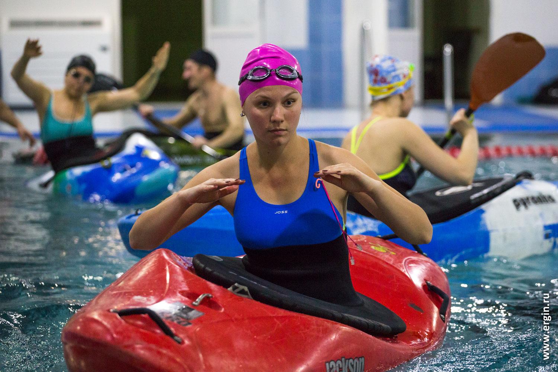 Саратовская школа каякинга в бассейне