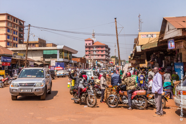 Африканский Городок Джинджа в Уганде