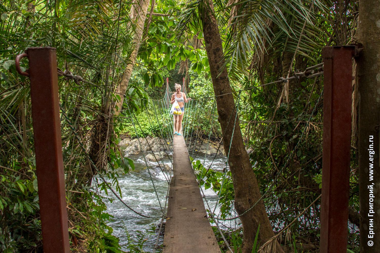 Веревочный мост через Нил Уганда Африка