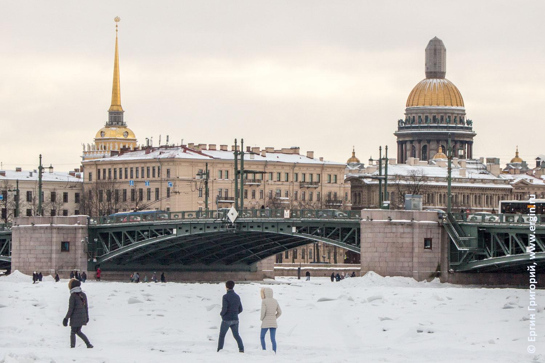 Санкт-Петербург зима Нева