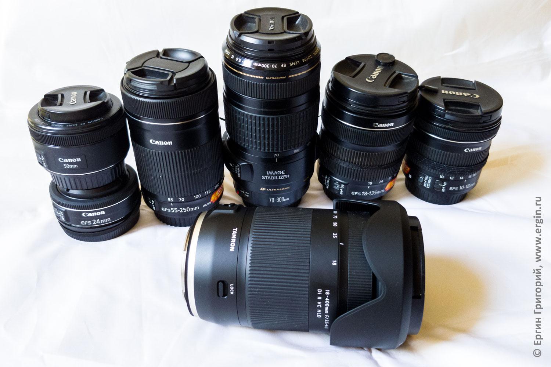 Объективы Canon: мой набор арсенал ширик универсал телевик портретник фиксы