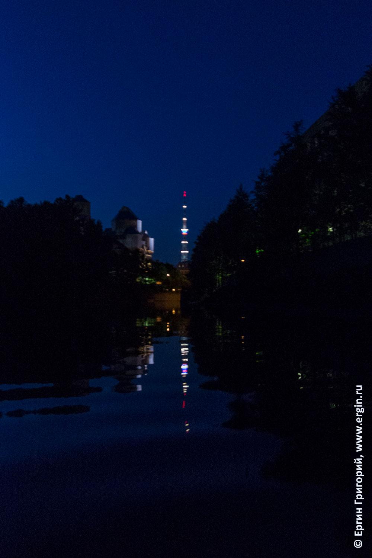 Ночь в СПБ река Карповка