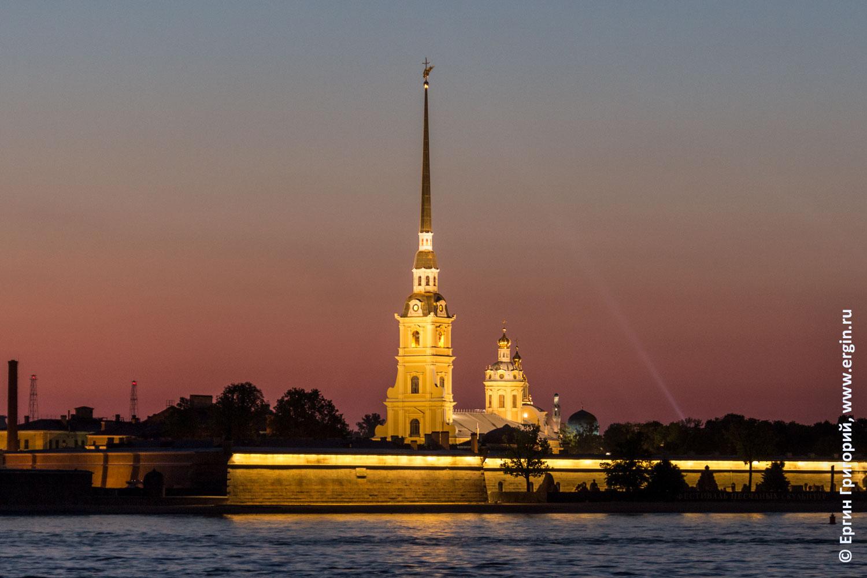Питер рассвет над Петропавловской крепостью