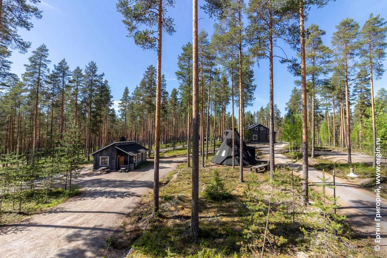Кемпинг Нейтикоски в Финляндии недалеко от городка Лиекса