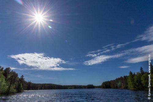 Солнце над озером Лиексанйоки