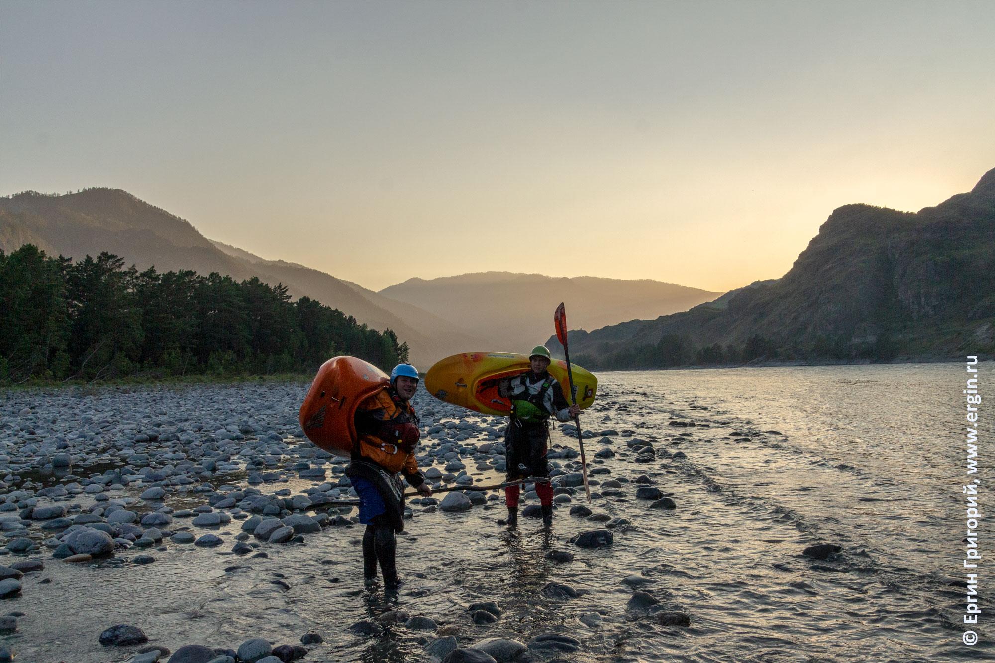 Завершение одного из дней родео-тура на Бийке, закат на Катуни