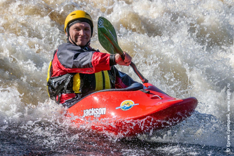 Каякинг в Финляндии на позитиве серф