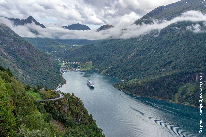 Норвегия фьорд Гейрангер Geirangerfjorden